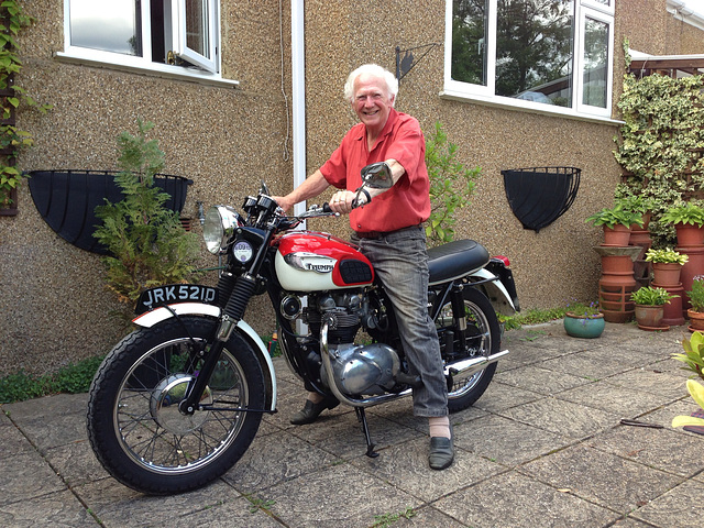 Dad on my Triumph Tiger 100