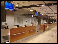 Verlassene Schalter. Airport Hamburg