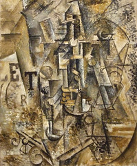 Still Life with a Bottle of Rum by Picasso in the Metropolitan Museum of Art, March 2008