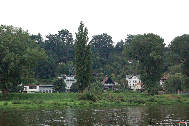 Pirna transe de la rivero Elbe (Pirna jenseits der Elbe)