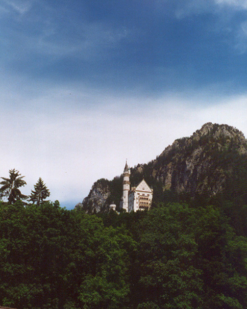 View of Neuschwanstein From the Distance, June 1998