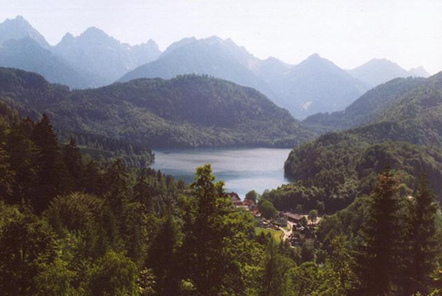 View of an Alpine Lake from Castle Neuschwanstein, Germany, 1998