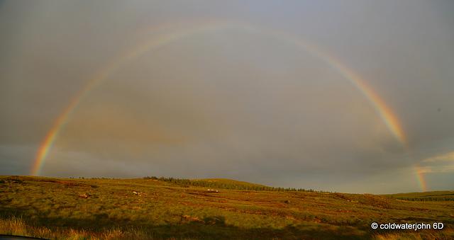 Perfect rainbow over Lewis