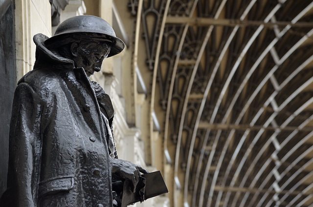 GWR First World War Memorial by Charles Sargeant Jagger at Paddington Station