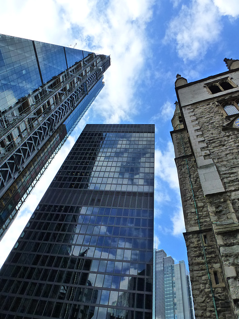 cheesegrater, fitzwilliam house and st. andrew undershaft, london