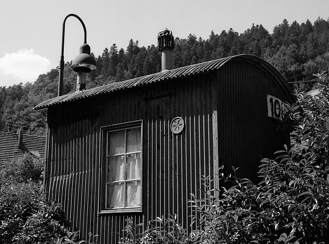 corrugated-iron shack