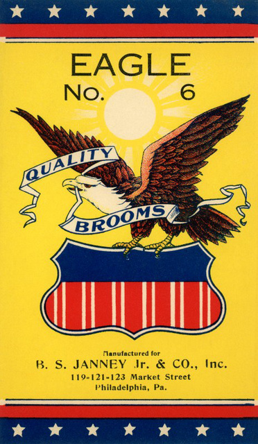 Eagle Quality Brooms Label