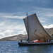 Sailboat Carrying a Truck on Lake Titicaca