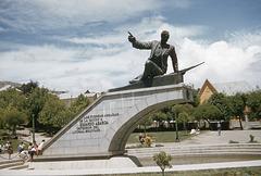 Eduardo Abaroa Statue, Plaza Abaroa, La Paz, Bolivia