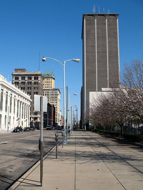 An entire skyscraper's worth of windowless façade.