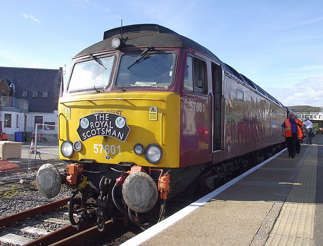 close-up of 57 601 at Kyle
