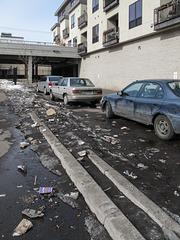 South Minneapolis small area of trash.