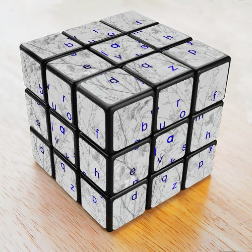 cube of letters