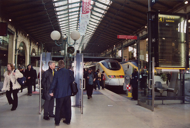 EuroStar Train in the Gare Du Nord in Paris, March 2004