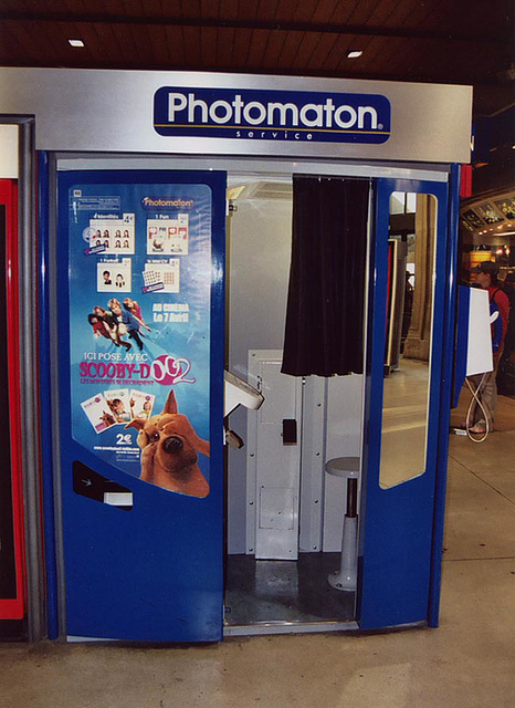 Photomaton in the Gare Du Nord in Paris, March 2004