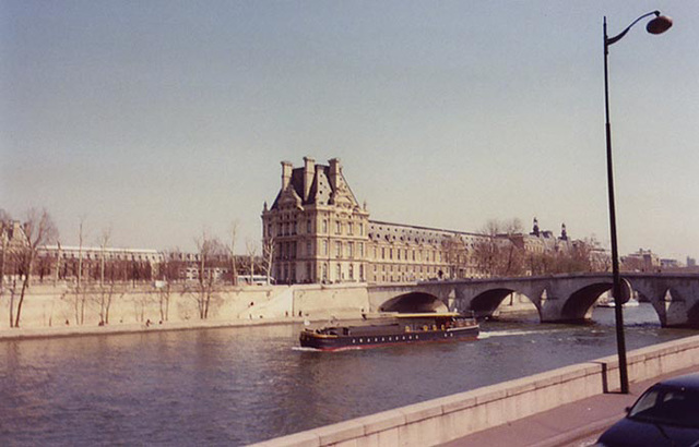 View of the Louvre from the Seine, March 2004