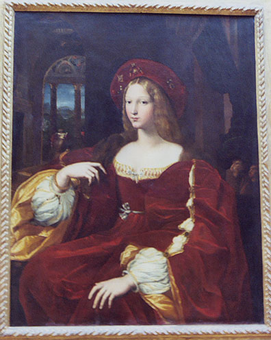 Portrait of Lady Isabel, Vicereine of Naples by Raphael in the Louvre, March 2004