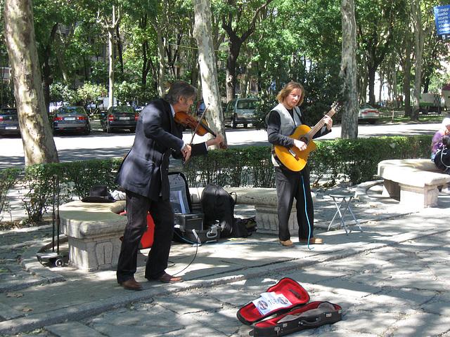 Outside the Prado