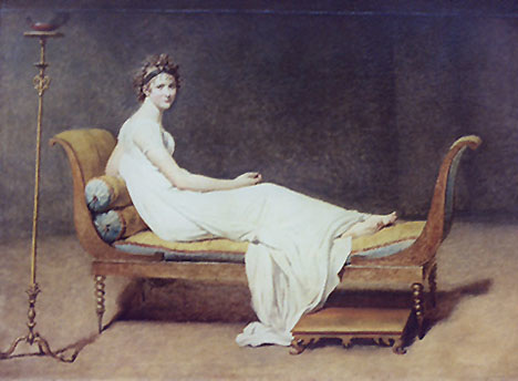 Madam Recamier by Jacques-Louis David in the Louvre, March 2004