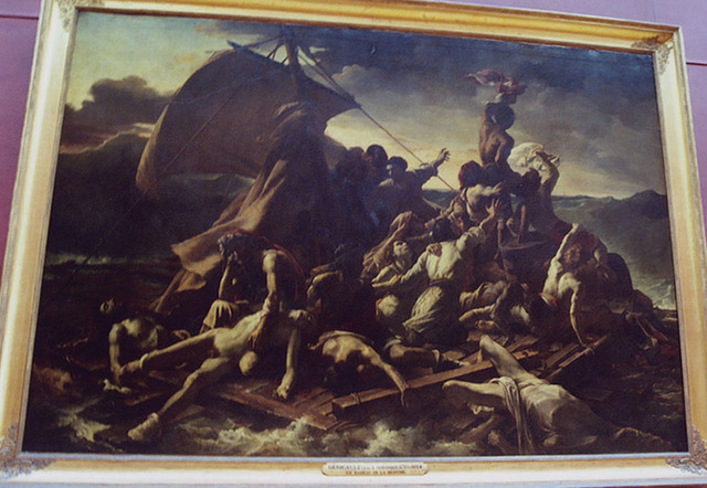 The Raft of the Medusa by Gericault in the Louvre, March 2004