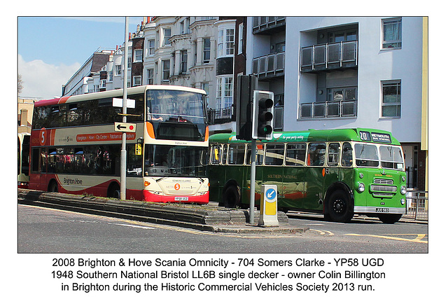 B&H 704 & 1948 Bristol LL6B Brighton 5 5 2013