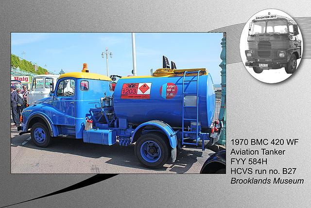 B27 1970 BMC 420 WF tanker Brooklands Museum