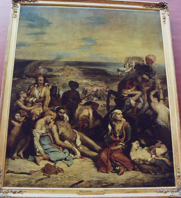 The Massacre at Chios by Delacroix in the Louvre, March 2004