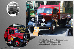 C6 1946 Bedford O Type Dropside Lorry HLW 34 Brighton 5 5 2013