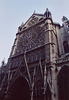 Rose Window and Facade of Notre Dame Cathedral in Paris, March 2004
