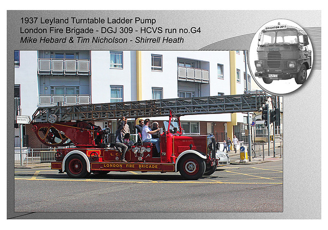 G4 1937 Leyland Turntable Ladder Pump LFB DGJ 309
