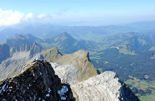 Panorama au sommet du Säntis (2500 m. alt)