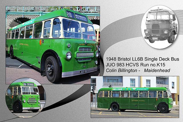 K15 1948 Bristol LL6B Bus JUO 983