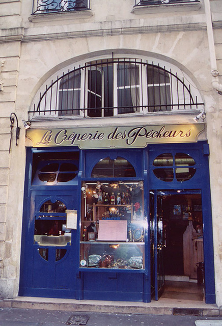 Creperie in the Latin Quarter, March 2004