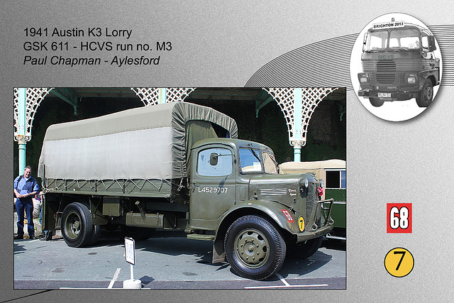 M3 1941 Austin K3 Lorry GSK 611