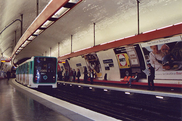 St. Michel Station on the Metro in Paris, March 2004