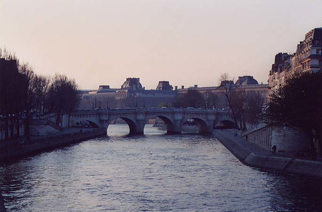 Bridge over the River Seine at Sunset, March 2004
