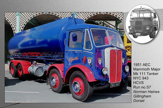 S7 1951 AEC Mammoth Major Mk111 Tanker NYC 943 Brighton 5 5 2013