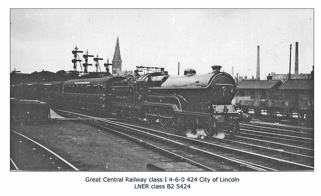 GC class I 4 6 0 424 LNER cl B2 5424