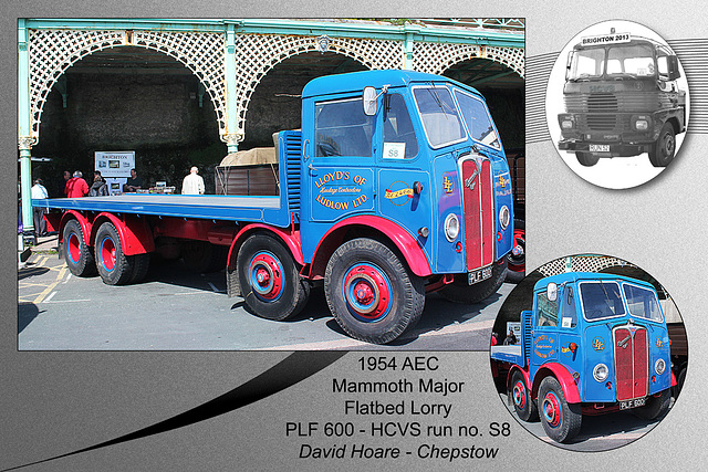 S8 1954 AEC Mammoth Major Lorry PLF 600