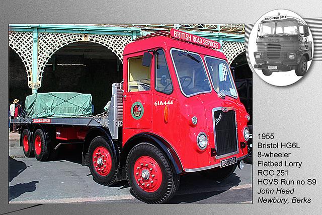 S9 1955 Bristol HG6L Flatbed Lorry Brighton 5 5 2013