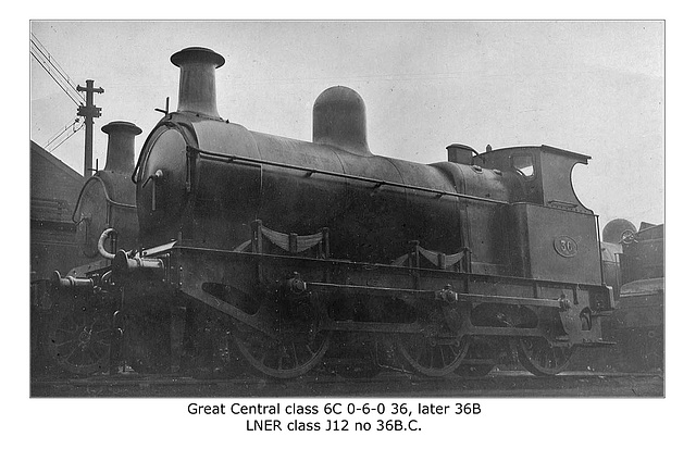 GCR 36 later 36B class 6C LNER class J12 no 36BC
