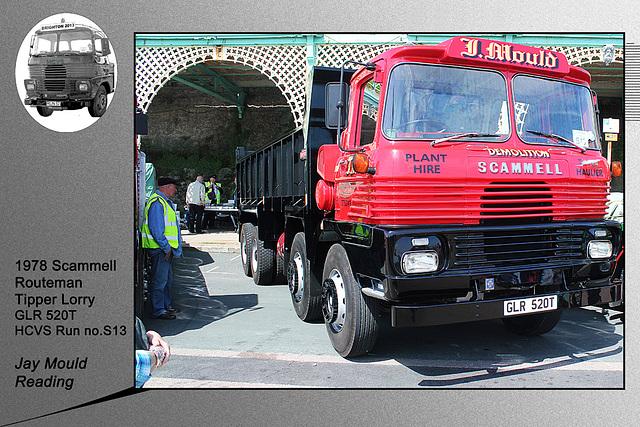 S13 1978 Scammell Routeman Tipper Lorry GLR 520T