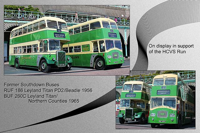 Southdown Leyland Titans RUF 186 & BUF 260C Brighton 5 5 2013