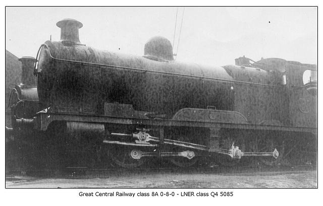 GCR cl 8A 0 8 0 LNER cl Q4 5085