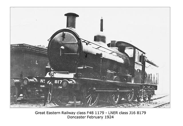 GER cl F48 060 1179 LNER cl J16 Doncaster 3 2 1924 WHW