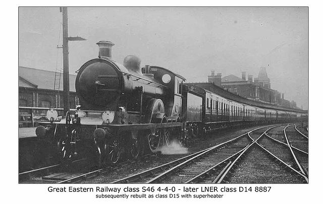 GER cl S46 4 4 0 LNER D14 8887