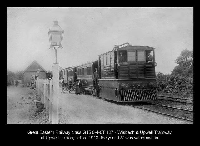 GER G15 LNER Y6 Upwell Station b&w