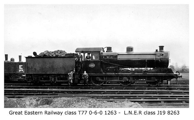 GER T77 0 6 0 1263 LNER J19 8263