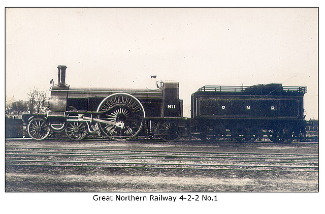 Great Northern Railway - 4-2-2 No 1