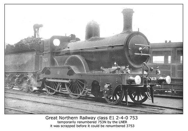GNR cl E1 2 4 0 753 LNER E1 753N